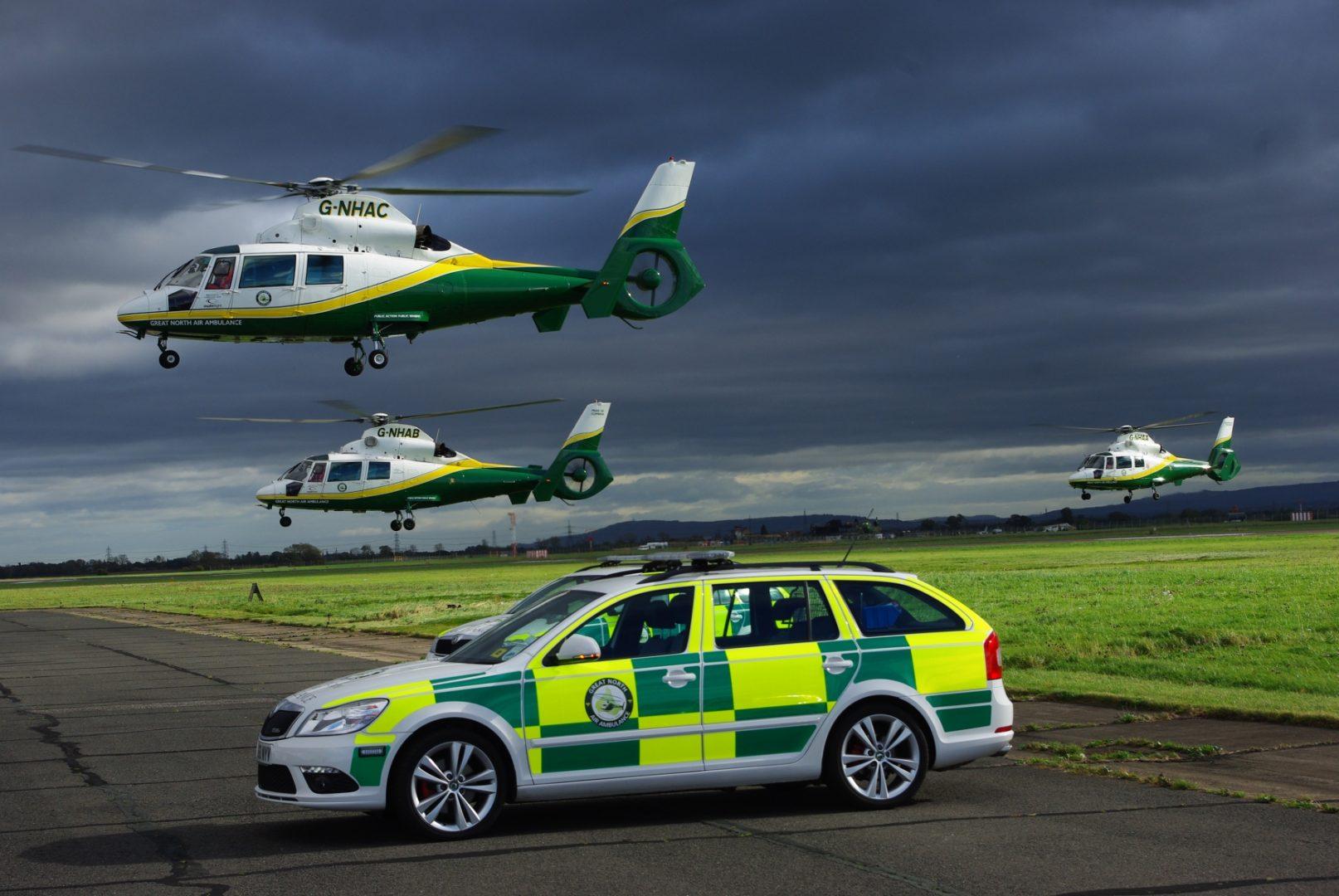 Great North Air Ambulance vehicles